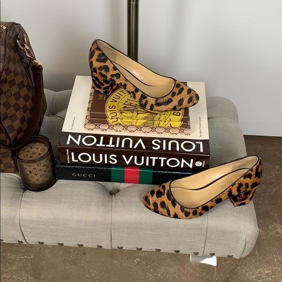 4365ac4b4 Talbots Leopard Hair Calf Isa Block-Heel Pumps. M 5c5cbacc3e0caa1ef372c074